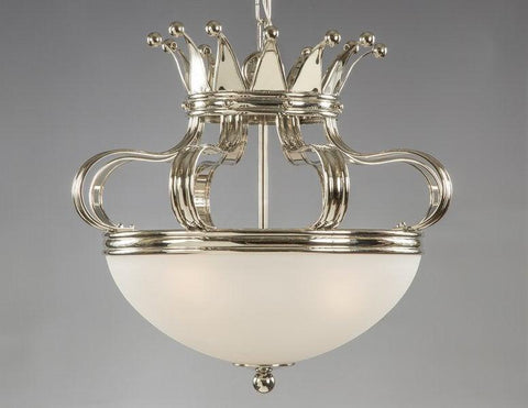 Frosted Glass Crown Style Chandelier LCFI-92