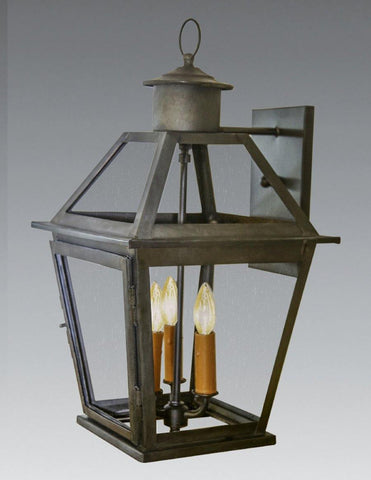 Four Sided Glass Lantern with Open Bottom LEWM-73