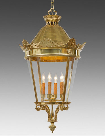 Dome Top Round Lantern With Ornate Finial LL-61