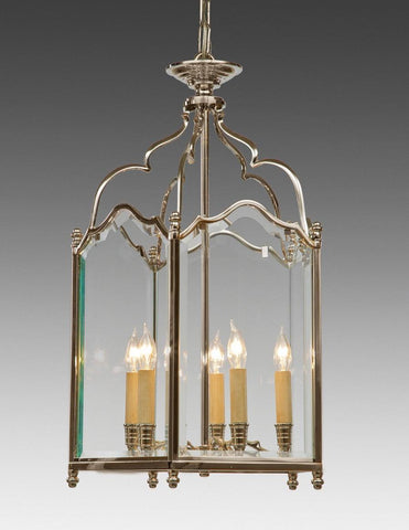 English Style Lantern Five Light With Beveled Glass LL-64