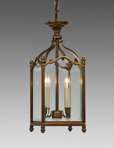 Beveled Glass English Style Lantern Two Light LL-62
