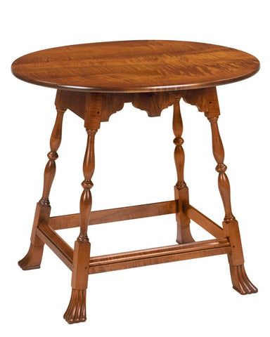 Oval table with shaped apron FOSTS-38