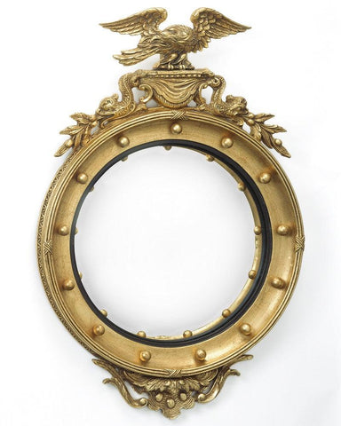 Round Regency Girandole Convex Mirror With Eagle And Dolphins MC-10