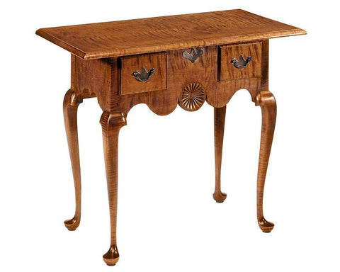 Lowboy with two drawers and carved pinwheel FOSTS-4a