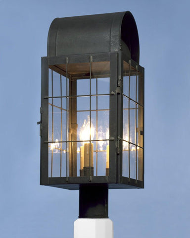 Post Mount Caged Lantern LEPM-8