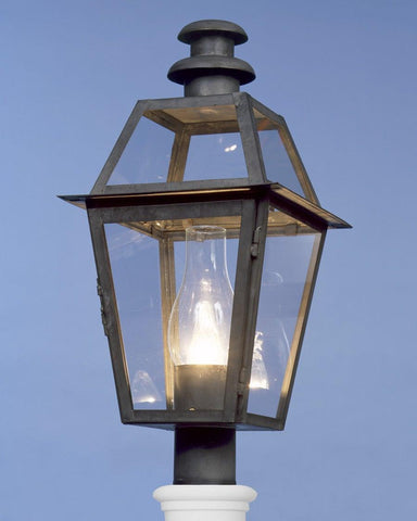 Post Mount Mushroom Top Lantern LEPM-4