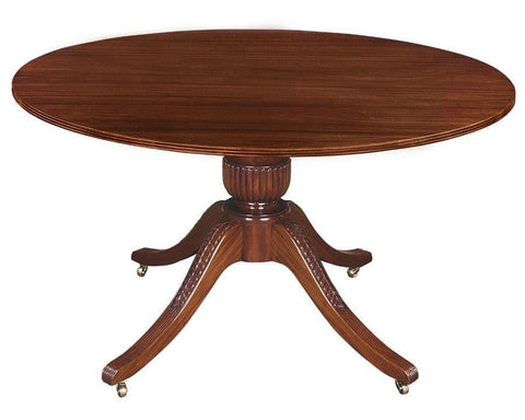 Federal style single vase design pedestal dining table FDTF-24