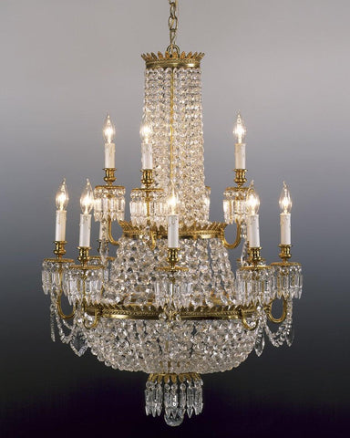 Reproduction crystal chandeliers the federalist crystal and cast brass chandelier lcc 3 aloadofball