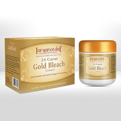 Aryanveda 24 Carat Gold Bleach Cream 450g