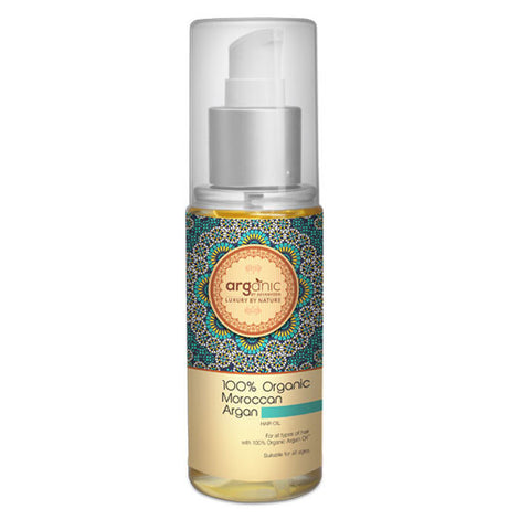 Arganic 100% Organic Moroccan Argan Hair Oil 100ml
