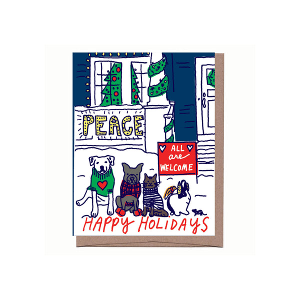 """CUSTOMER FAVE: All Are Welcome"" Holiday Card"