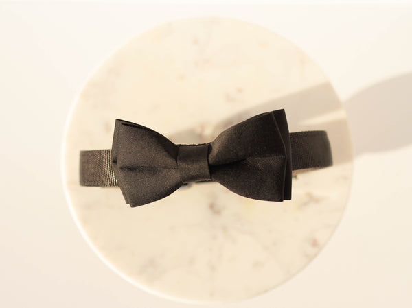 """Timeless Bow Tie- Black"" Collar 