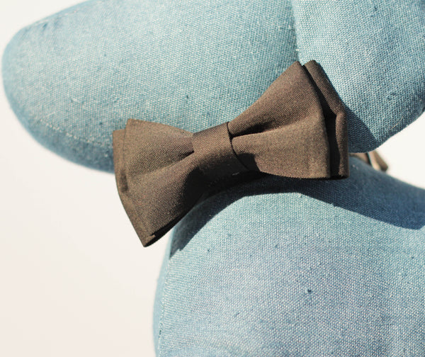 """BARX + BLOOMS NEW RELEASE: Timeless Bow Tie- Black"" Collar (PAWFECT for Male Pups!)"