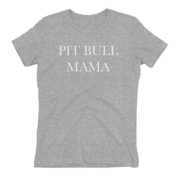 "APPAREL || ""Pit Bull Mama"" Women's Boyfriend T-shirt"