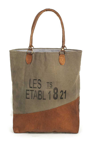 1821 Canvas Tote Bag