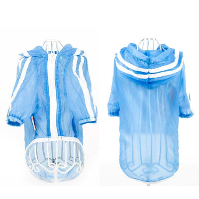 Blue Sporty UV Sun Protection Quick Dry Hoodie Pawsome Market