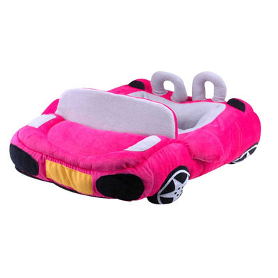 Sports Convertible Race Car Shaped Dog Bed in Hot Pink Pawsome Market