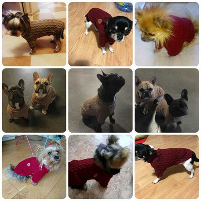 Customer Reviews Knitted Cotton Posh Modern Preppy Dog Sweaters Pawsome Market