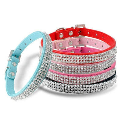Diva Dog Leather Rhinestone Dog & Cat Collar Pawsome Market