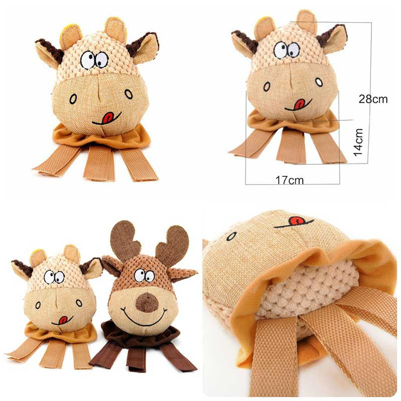 Elf & Cow Squeak Dog Toys Pawsome Market Dog Toys