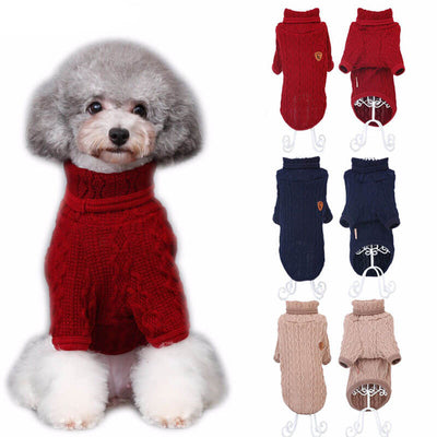 Knitted Cotton Posh Modern Preppy Dog Sweaters Pawsome Market .jpg