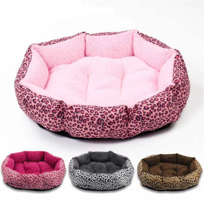 Pink Leopard dog bed