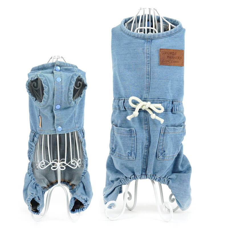 Modern dog outfits Buy cheap Denim Dog Overalls Pawsome Market