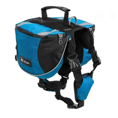 PawHike™ Best Blue Dog Backpack Saddle Bag For Travel Camping Hiking