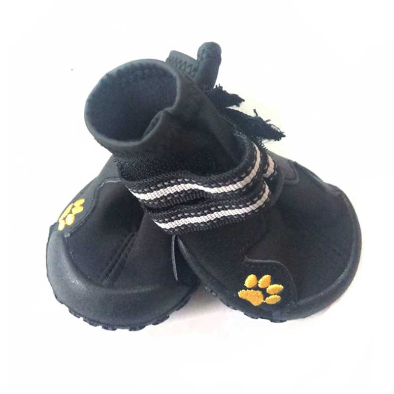 Pawsome Market Waterproof Rubber Boots For Winter For Large Dogs Pets 4 pieces set