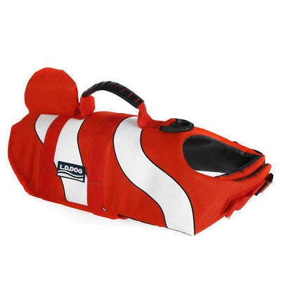 Salty Paws Safety Red Clown Fish Design Large Dog Life Jacket Floating Vest Pawsome Market