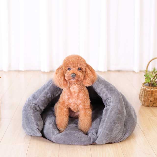 Poodle Soft Hooded Dog Bed Pawsome Market