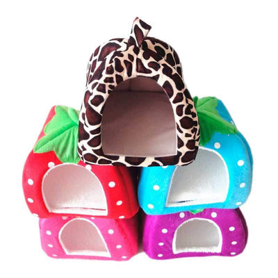 Strawberry Dog House Bed