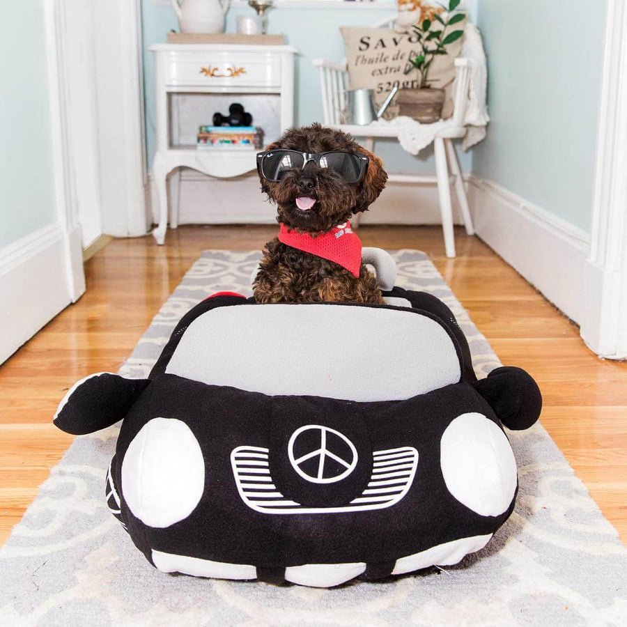 Black mercedes benz dog bed convertible Sports car dog bed Pawsome Market