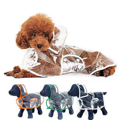 White Orange Green Transparent Dog Pet Cat Raincoat With Hood Pawsome Market