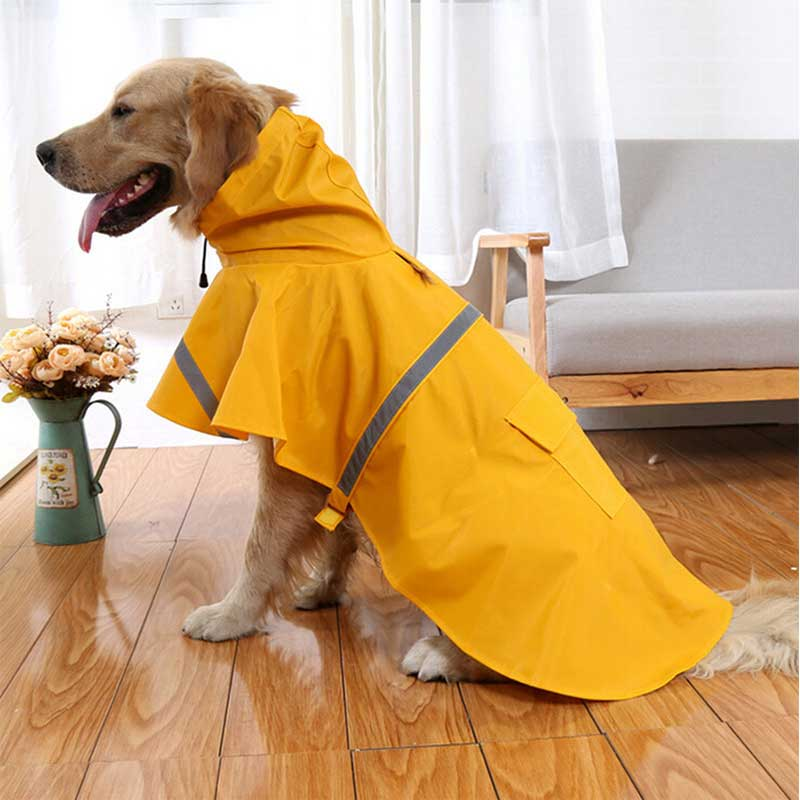 Pit Bull-Yellow-Candy-Colors-Waterproof-Raincoat-For-Large-Dogs