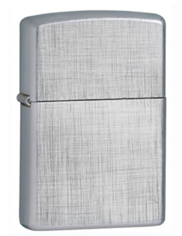 Classic Lighter Brushed Chrome Lien Weave