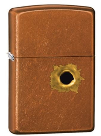 Toffee Built Hole Zippo Lighter