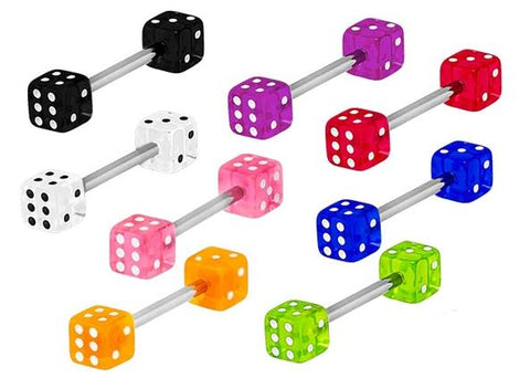 UV Double Dice Barbell