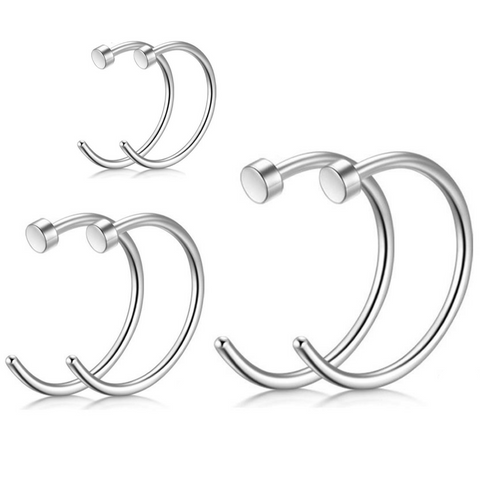 18G 20G 22G Steel Nose Hoop Ring