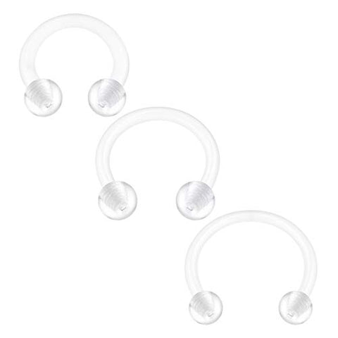 16G Clear Flexible Ball Horseshoes Retainer