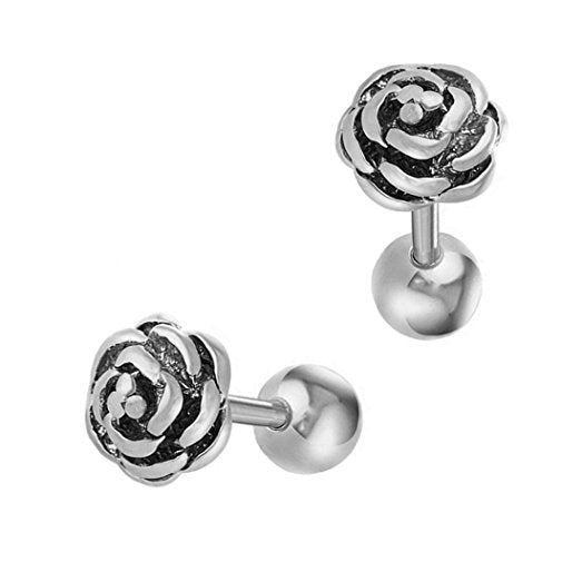 Steel Rose Tragus Barbell