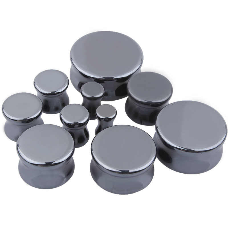 Hematite Stone Saddle Plugs