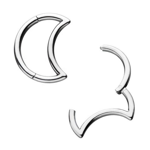 16G Steel Crescent Moon Hinged Clicker