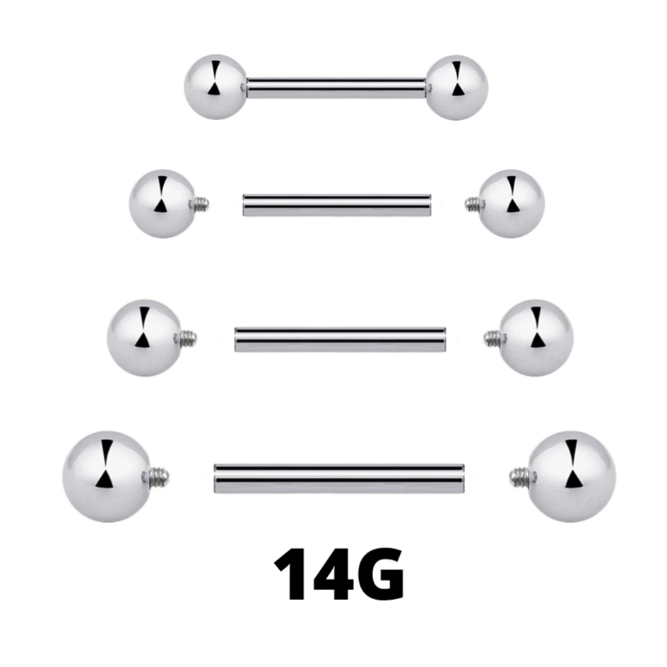 14G Internally Threaded Barbell
