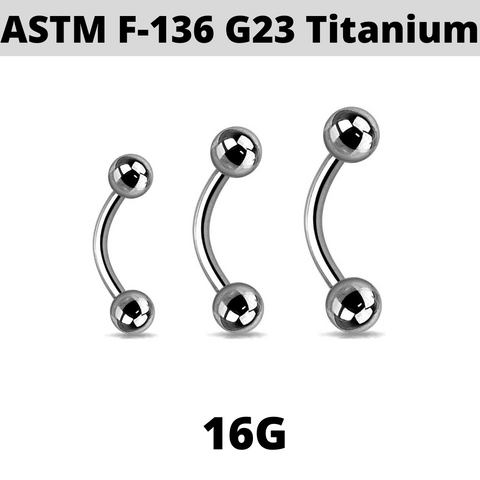 G23 16G Titanium Eyebrow Ring
