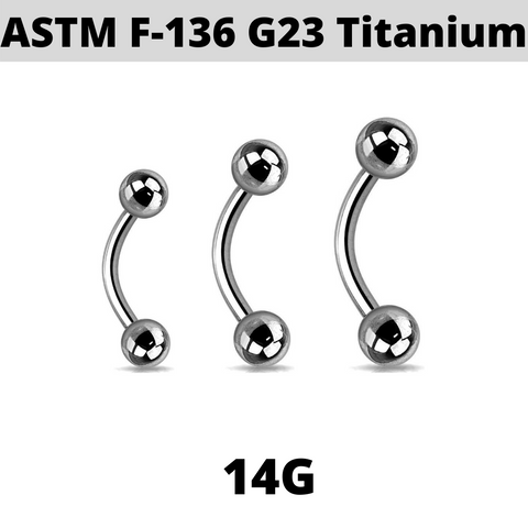 G23 Titanium 4mm Ball Curved Barbell