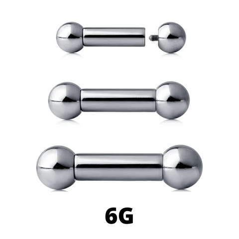 6G Internally Threaded Barbell