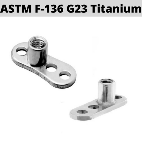 G23 Titanium Dermal Anchor Base