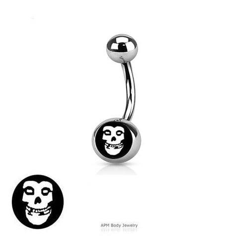 Misfit Skull Logo Belly Ring