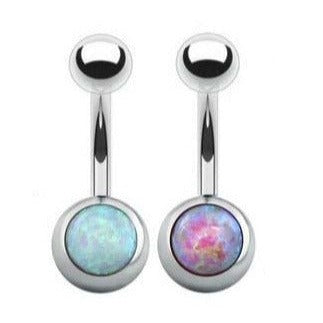 Wholesale Body Jewelry I Opal Belly Ring